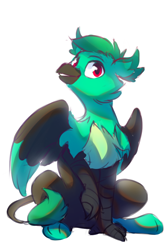 Size: 570x849   Tagged: safe, artist:anticular, oc, oc only, griffon, griffon oc, simple background, solo, white background