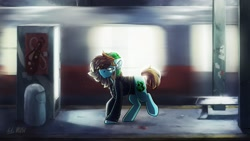 Size: 2560x1440   Tagged: safe, artist:anticular, artist:lrusu, oc, oc only, earth pony, pony, collaboration, solo