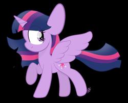 Size: 1098x886   Tagged: safe, artist:sugarcloud12, twilight sparkle, alicorn, pony, simple background, solo, transparent background, twilight sparkle (alicorn)