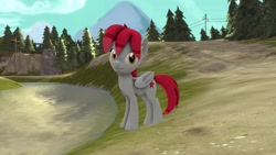 Size: 1280x720 | Tagged: safe, artist:jasmindreasond, derpibooru exclusive, oc, oc only, oc:tiny jasmini, pegasus, pony, 3d, cute, female, flower, flower in hair, looking at you, mare, pegasus oc, smiling, smiling at you, solo, source filmmaker, test