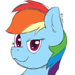 Size: 1000x1000   Tagged: safe, artist:exobass, rainbow dash, colored ske, female, mare, sketch