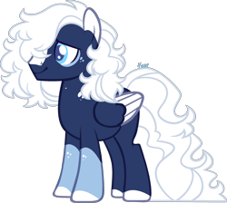 Size: 2300x2057   Tagged: safe, artist:kurosawakuro, oc, pegasus, pony, male, offspring, parent:double diamond, parent:night glider, parents:nightdiamond, simple background, solo, stallion, transparent background, two toned wings, wings