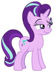 Size: 6748x8954   Tagged: safe, artist:andoanimalia, starlight glimmer, pony, unicorn, the parent map, female, simple background, smug, solo, transparent background, vector