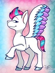 Size: 1080x1440 | Tagged: safe, artist:ichika_016, zipp storm, pegasus, pony, g5, female, mare, missing cutie mark, raised hoof, solo, unshorn fetlocks