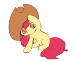 Size: 600x483 | Tagged: safe, artist:noel, apple bloom, earth pony, pony, adorabloom, cowboy hat, cute, female, filly, hat, looking at you, solo, stetson, weapons-grade cute