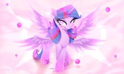 Size: 3000x1800 | Tagged: safe, artist:darksly, twilight sparkle, alicorn, pony, seraph, seraphicorn, female, four wings, mare, multiple wings, solo, twilight sparkle (alicorn), wings