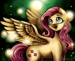 Size: 1171x952   Tagged: safe, artist:tillukkalilihukka, fluttershy, pegasus, pony, cute, female, mare, shyabetes, solo, spread wings, wings