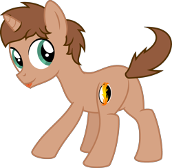 Size: 2320x2260   Tagged: safe, artist:peternators, oc, oc only, oc:heroic armour, pony, unicorn, colt, dancing, looking back, male, simple background, solo, teenager, tongue out, transparent background