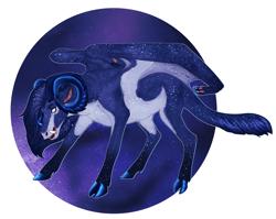 Size: 4061x3232 | Tagged: safe, artist:bluet0ast, oc, oc only, hybrid, pony, cloven hooves, horns, interspecies offspring, offspring, parent:grogar, parent:nightmare moon, simple background, solo, transparent background