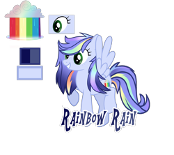 Size: 3960x3512 | Tagged: safe, artist:magicstarshine12, oc, oc only, pegasus, pony, base used, eyelashes, female, grin, mare, multicolored hair, offspring, parent:rainbow dash, parent:soarin', parents:soarindash, pegasus oc, rainbow hair, raised hoof, reference sheet, simple background, smiling, solo, transparent background, wings
