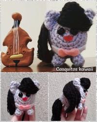 Size: 1024x1280 | Tagged: safe, artist:casquitos kawaii, octavia melody, earth pony, pony, amigurumi, crochet, handmade, irl, photo, plushie, solo