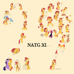 Size: 2000x2000   Tagged: safe, artist:darksly, princess celestia, sunset shimmer, tempest shadow, twilight sparkle, alicorn, bat pony, cow, pegasus, pony, unicorn, bat ponified, blushing, cowified, eyes closed, female, kissing, lesbian, lola bunny, looney tunes, mare, newbie artist training grounds, ponified, race swap, shimmerbat, shipping, simple background, space jam, species swap, sunset shimmoo, sunsetsparkle, twilight sparkle (alicorn), yellow background