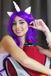 Size: 1007x1500 | Tagged: safe, artist:evening_rose, rarity, human, clothes, cosplay, costume, irl, irl human, photo