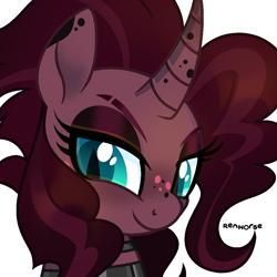 Size: 1000x1000   Tagged: safe, artist:renhorse, oc, oc:velvet delight, pony, unicorn, bust, female, mare, portrait, simple background, solo, transparent background