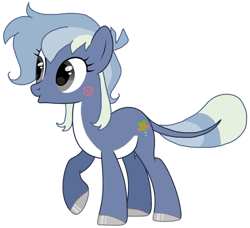Size: 1280x1166   Tagged: safe, artist:gogo-gadget, oc, oc:puddle jumper, earth pony, frog, frog pony, hybrid, pony, :o, cute, female, mare, ocbetes, open mouth, raised hoof, simple background, smiling, solo, transparent background