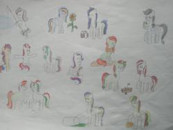 Size: 1280x960   Tagged: safe, artist:angelovalouva, pony, armenia, azerbaijan, belarus, estonia, georgia (country), kyrgyzstan, latvia, lithuania, moldova, nation ponies, ponified, russia, soviet union, tajikistan, traditional art, turkmenistan, ukraine, uzbekistan