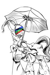 Size: 2000x3014   Tagged: safe, artist:ktk's sky, earth pony, pony, blackmore, catch the rainbow, clothes, jojo's bizarre adventure, male, solo, umbrella