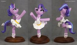 Size: 2618x1562   Tagged: safe, artist:h1ppezz, starlight glimmer, pony, unicorn, ballerina, clothes, figurine, glimmerina, irl, photo, tutu