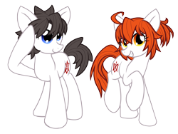 Size: 3032x2282   Tagged: safe, artist:geraritydevillefort, earth pony, pony, fate/grand order, gudako, gudao, ponified, simple background, transparent background