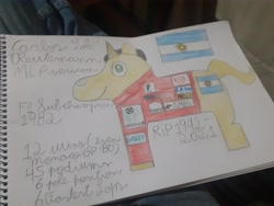 Size: 4128x3096 | Tagged: safe, screencap, pony, argentina, carlos reutemann, formula 1, ponified, solo, traditional art