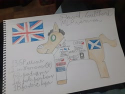 Size: 4128x3096 | Tagged: safe, screencap, pony, david coulthard, formula 1, great britain, ponified, solo, traditional art, united kingdom