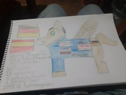 Size: 4128x3096 | Tagged: safe, screencap, pony, formula 1, germany, heinz harald frentzen, heinz harald frentzen lladosa, ponified, solo, spain, traditional art