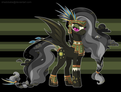 Size: 2276x1728   Tagged: safe, artist:shadobabe, daring do, bodypaint, looking at you, nightmare daring do, nightmarified