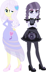 Size: 365x567   Tagged: safe, artist:sturk-fontaine, inky rose, lily lace, equestria girls, bases used, duo, duo female, equestria girls-ified, female, goth, simple background, white background