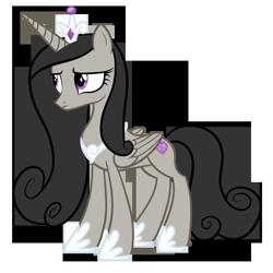 Size: 1600x1600 | Tagged: safe, artist:blah23z, edit, vector edit, octavia melody, princess cadance, alicorn, pony, alicornified, female, palette swap, race swap, recolor, simple background, solo, transparent background, vector