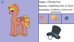 Size: 1280x720 | Tagged: safe, artist:schumette14, oc, oc:glaring sun, alicorn, male, next generation, parent:flam, parent:lightning dust, parents:flamdust, parents:lightningflam, stallion