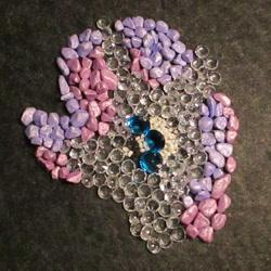 Size: 1389x1389 | Tagged: safe, alternate version, artist:malte279, part of a set, rarity, craft, gemstones, mosaic