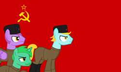 Size: 1280x761 | Tagged: safe, artist:angelovalouva, oc, male, russia, soldier, soviet union