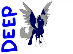 Size: 1043x766   Tagged: safe, artist:joan-grace, oc, oc only, pegasus, pony, coat markings, male, pegasus oc, socks (coat markings), solo, stallion, two toned wings, wings