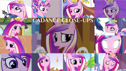 Size: 1280x721   Tagged: safe, edit, edited screencap, editor:quoterific, screencap, applejack, pinkie pie, princess cadance, princess flurry heart, rarity, shining armor, alicorn, earth pony, pony, unicorn, a canterlot wedding, a flurry of emotions, equestria girls, equestria girls (movie), games ponies play, once upon a zeppelin, slice of life (episode), the crystal empire, the crystalling, three's a crowd, twilight's kingdom, applejack's hat, close-up, confused, cowboy hat, crown, cute, cutedance, duo, duo female, eyes closed, female, gasp, glowing eyes, glowing horn, hat, horn, jewelry, magic, magic aura, male, night, offscreen character, open mouth, regalia, surprised, teeth