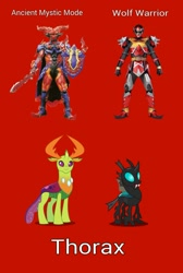 Size: 1171x1739 | Tagged: safe, thorax, changedling, changeling, ancient mystic mode, blagel, king thorax, magiranger, mahou sentai magiranger, male, mystic force, photo, power rangers, power rangers mystic force, solo, super sentai, wolf warrior, wolzard fire