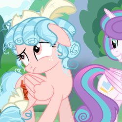Size: 640x640   Tagged: artist needed, safe, cozy glow, princess flurry heart, alicorn, pegasus, pony, a better ending for cozy, duo, duo female, female, mare, older, older cozy glow, older flurry heart