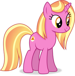 Size: 4242x4285 | Tagged: safe, artist:anime-equestria, luster dawn, unicorn, alternate hairstyle, female, happy, mare, simple background, smiling, solo, transparent background, vector