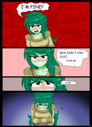 Size: 2807x3861   Tagged: safe, artist:lennondash, wallflower blush, equestria girls, equestria girls series, forgotten friendship, ..., alone, angry, blushing, comic, crying, eyes closed, female, high res, sad, solo, tears of anger, tears of sadness