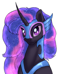 Size: 1503x1856 | Tagged: safe, artist:not-ordinary-pony, derpibooru exclusive, twilight sparkle, alicorn, ethereal mane, female, mare, nightmare twilight, nightmarified, simple background, solo, starry mane, white background