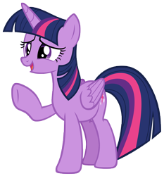 Size: 7070x7573   Tagged: safe, artist:andoanimalia, twilight sparkle, alicorn, pony, father knows beast, female, open mouth, simple background, solo, transparent background, twilight sparkle (alicorn), vector