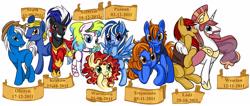 Size: 3757x1597 | Tagged: safe, artist:monikakryza, oc, oc only, oc:equumirus rex, oc:magnolia griffonheart, oc:prince baltic, oc:princess pomerania, oc:sawa, oc:wihajster, alicorn, earth pony, pegasus, pony, unicorn, krakow, oc name needed, olsztyn, poland, poznań, szczecin, trójmiasto, warsaw, wrocław, łódź, śląsk