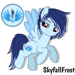 Size: 1448x1448   Tagged: safe, artist:skyfallfrost, oc, oc:sky chaser (skyfallfrost), pegasus, pony, female, mare, simple background, solo, two toned wings, white background, wings