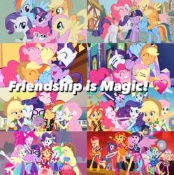 Size: 1020x1024   Tagged: safe, artist:luigigamer25, applejack, fluttershy, pinkie pie, rainbow dash, rarity, sci-twi, sunset shimmer, twilight sparkle, alicorn, equestria girls, equestria girls series, forgotten friendship, friendship games, rainbow rocks, rollercoaster of friendship, humane five, humane seven, humane six, meta, twilight sparkle (alicorn), twitter