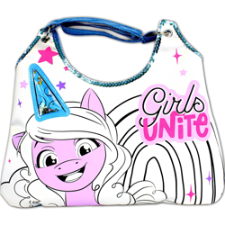Size: 2000x2000   Tagged: safe, izzy moonbow, pony, unicorn, g5, official, female, mare, merchandise, purse, target (store), text