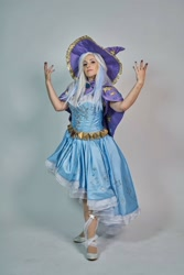 Size: 1080x1619 | Tagged: safe, artist:mieucosplay, artist:xen photography, trixie, human, bronycon, bronycon 2016, cape, clothes, cosplay, costume, facebook, hat, irl, irl human, photo, trixie's cape, trixie's hat