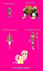 Size: 1081x1807 | Tagged: safe, fluttershy, female, legend magipink, legend warrior, magifairy, magilion, magimajin, magipink, magiranger, mahou sentai magiranger, mystic force, mystic lion, mystic sprite, mystic titan, photo, pink ranger, power rangers, power rangers mystic force, solo, super sentai