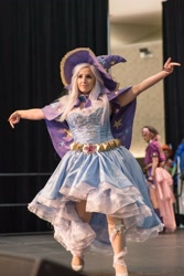 Size: 1367x2048 | Tagged: safe, artist:mieucosplay, trixie, human, bronycon, bronycon 2016, cape, clothes, cosplay, costume, hat, irl, irl human, photo, trixie's cape, trixie's hat