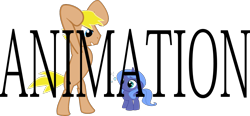 Size: 1207x561   Tagged: safe, artist:kixalin, princess luna, oc, alicorn, earth pony, pony, duo, earth pony oc, female, filly, filly luna, rearing, simple background, transparent background, woona, younger