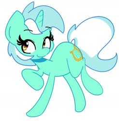 Size: 2108x2139 | Tagged: safe, artist:kindakismet, lyra heartstrings, pony, unicorn, cute, female, high res, lyrabetes, mare, simple background, smiling, solo, white background