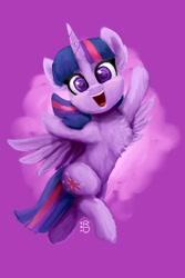 Size: 1365x2048 | Tagged: safe, artist:raphaeldavid, twilight sparkle, alicorn, pony, chest fluff, purple background, simple background, solo, twilight sparkle (alicorn)